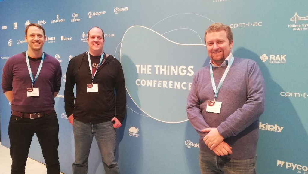Bernhard, Peter, and Stefan at TTN Conference 2019