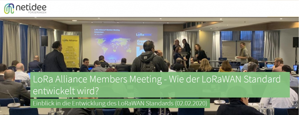 Screenshot of Netidee Blogpost about our attendence at the LoRa Alliance members meeting